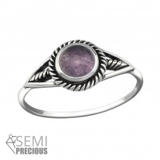 Round - 925 Sterling Silver Rings with Zirconia stones A4S32317