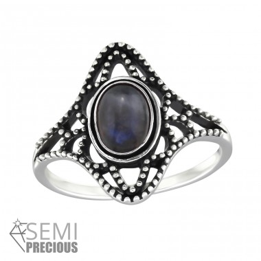 Antique - 925 Sterling Silver Rings with Zirconia stones A4S32326
