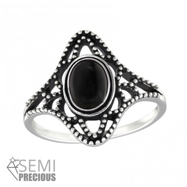 Antique - 925 Sterling Silver Rings with Zirconia stones A4S32327