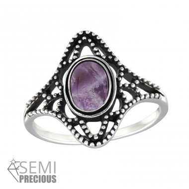 Oval - 925 Sterling Silver Rings with Zirconia stones A4S32328