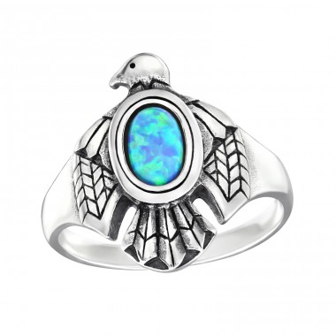 "Eagle ""Azure"" Opal - 925 Sterling Silver Rings With Opal Stones A4S32330"