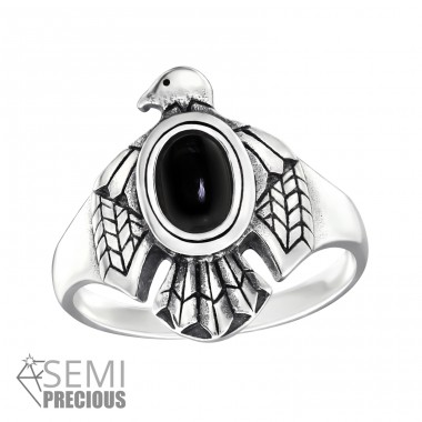 Eagle Opal - 925 Sterling Silver Rings with Zirconia stones A4S32331