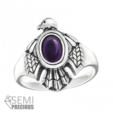 Eagle - 925 Sterling Silver Rings with Zirconia stones A4S32332