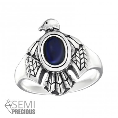 Eagle - 925 Sterling Silver Rings with Zirconia stones A4S32333