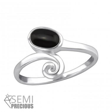 Oval - 925 Sterling Silver Rings with Zirconia stones A4S32358