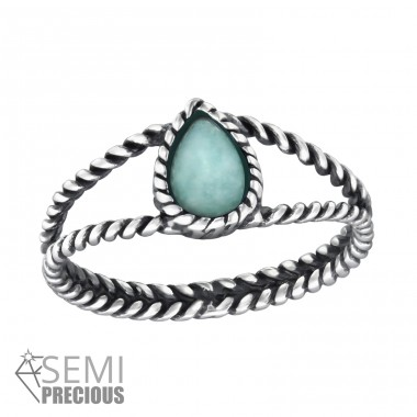 Twisted Band - 925 Sterling Silver Rings with Zirconia stones A4S32426