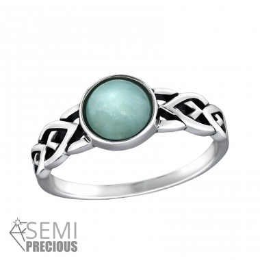 Braided - 925 Sterling Silver Rings with Zirconia stones A4S32429
