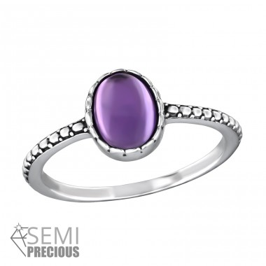 Oval - 925 Sterling Silver Rings with Zirconia stones A4S32432