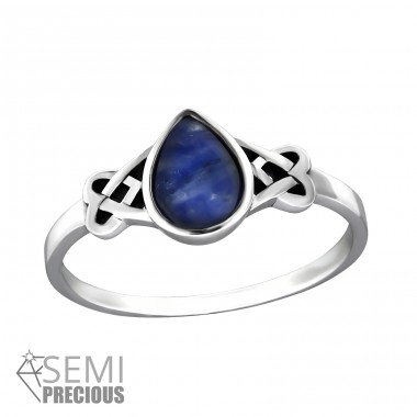 Celtic - 925 Sterling Silver Rings with Zirconia stones A4S32453