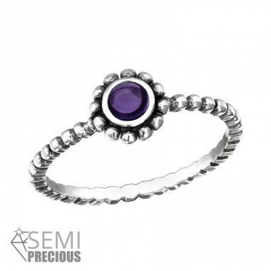 Twisted Band - 925 Sterling Silver Rings with Zirconia stones A4S32454