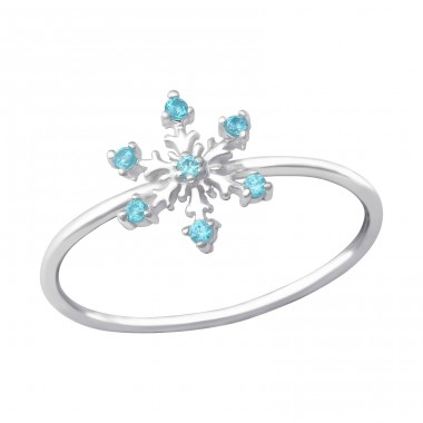 Snowflake - 925 Sterling Silver Rings with Zirconia stones A4S33903
