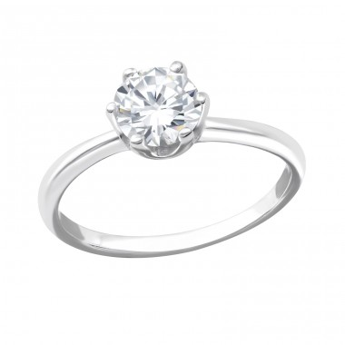Solitaire - 925 Sterling Silver Rings with Zirconia stones A4S33917