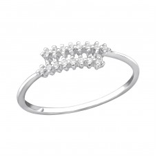 Spiral - 925 Sterling Silver Rings with Zirconia stones A4S34180