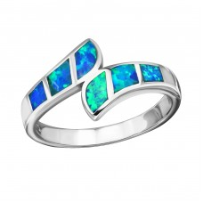 Ocean Opal - 925 Sterling Silver Rings with Zirconia stones A4S34314