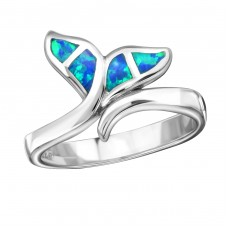 Whale's Tail Opal - 925 Sterling Silver Rings with Zirconia stones A4S34317
