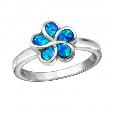 Flower Opal - 925 Sterling Silver Rings with Zirconia stones A4S34319