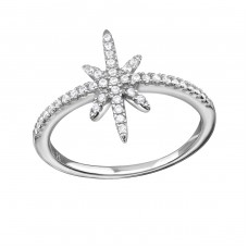 Star - 925 Sterling Silver Rings with Zirconia stones A4S34338