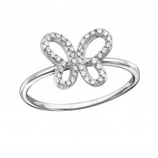 Butterfly - 925 Sterling Silver Rings with Zirconia stones A4S34375