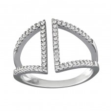 Open - 925 Sterling Silver Rings with Zirconia stones A4S34380