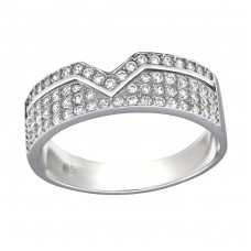 Band - 925 Sterling Silver Rings with Zirconia stones A4S34382