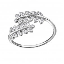 Branch - 925 Sterling Silver Rings with Zirconia stones A4S34384