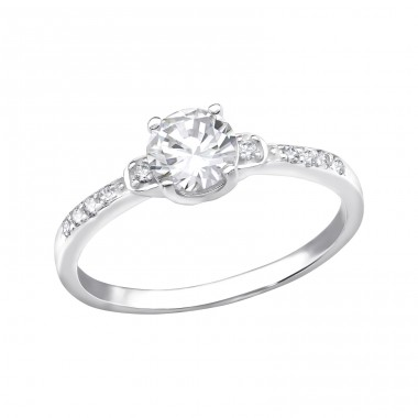 Solitaire - 925 Sterling Silver Rings with Zirconia stones A4S34909