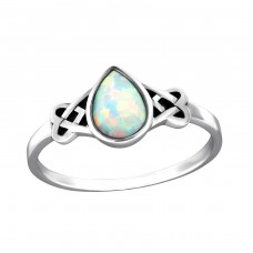 Celtic Opal - 925 Sterling Silver Rings with Zirconia stones A4S34976