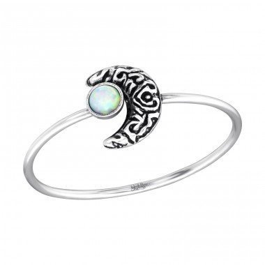 Moon Opal - 925 Sterling Silver Rings with Zirconia stones A4S35074