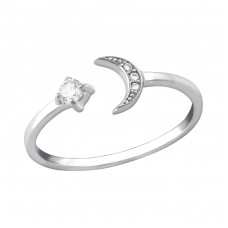 Moon - 925 Sterling Silver Rings with Zirconia stones A4S35378