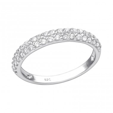 Eternity - 925 Sterling Silver Rings with Zirconia stones A4S35379