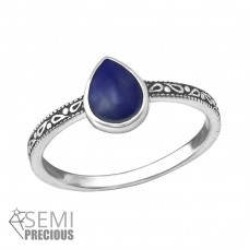 Teardrop - 925 Sterling Silver Rings with Zirconia stones A4S35382