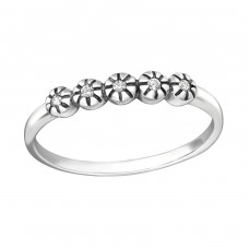 Stackable - 925 Sterling Silver Rings with Zirconia stones A4S35605