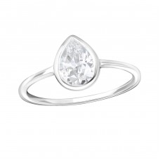 Teardrop - 925 Sterling Silver Rings with Zirconia stones A4S36163