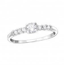 Solitaire - 925 Sterling Silver Rings with Zirconia stones A4S36164