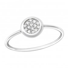 Round - 925 Sterling Silver Rings with Zirconia stones A4S36166