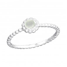 Twisted Band - 925 Sterling Silver Rings with Zirconia stones A4S36192