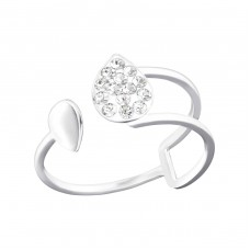 Pear - 925 Sterling Silver Rings with Zirconia stones A4S36409