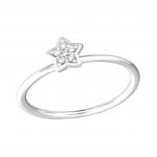 Star - 925 Sterling Silver Rings with Zirconia stones A4S36415