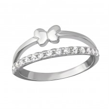 Butterfly - 925 Sterling Silver Rings with Zirconia stones A4S36509