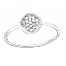 Round - 925 Sterling Silver Rings with Zirconia stones A4S36513