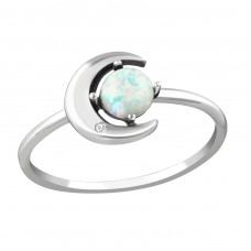 Moon - 925 Sterling Silver Rings with Zirconia stones A4S36873