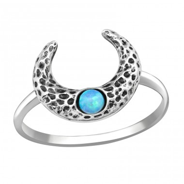 Moon - 925 Sterling Silver Rings with Zirconia stones A4S36874