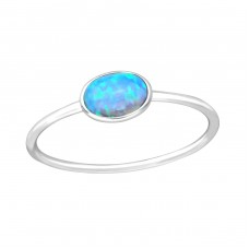 Oval - 925 Sterling Silver Rings with Zirconia stones A4S36877