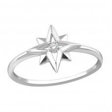 Star - 925 Sterling Silver Rings with Zirconia stones A4S36879