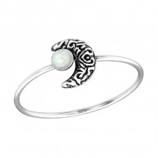 Moon - 925 Sterling Silver Rings with Zirconia stones A4S37129