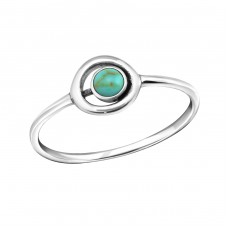 Circle - 925 Sterling Silver Rings with Zirconia stones A4S37132