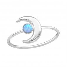 Moon - 925 Sterling Silver Rings with Zirconia stones A4S37178