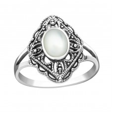 Antique - 925 Sterling Silver Rings with Zirconia stones A4S37237