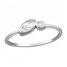 Geometric - 925 Sterling Silver Rings with Zirconia stones A4S37291