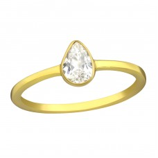 Pear - 925 Sterling Silver Rings with Zirconia stones A4S37293